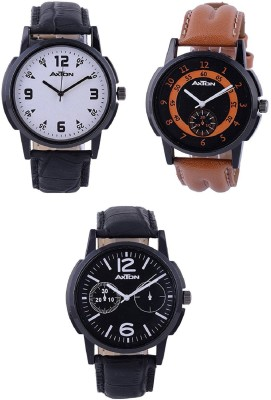 AXTON AXG-4004 Analog Multicolor Dial Unisex Watch - (Pack of 3) Analog Watch  - For Men