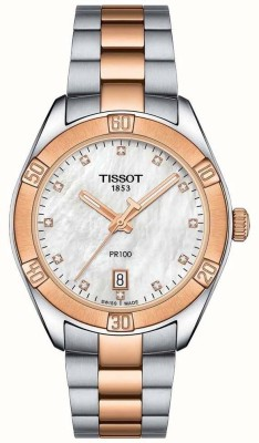 Tissot T101.910.22.116.00 PR100 Diamond White Mother of Pearl Dial Analog Watch  - For Women