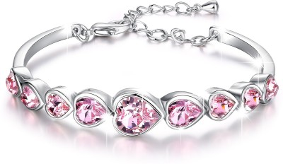 Divastri Metal Crystal Rhodium Bracelet