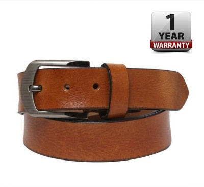 DMX Men Casual Tan Genuine Leather Belt