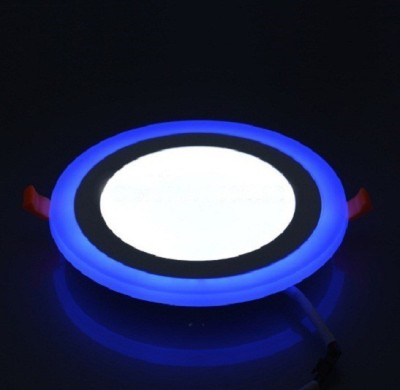 Homes Decor 12W LED Round Panel Light with Dual Lighting (Blue &...
