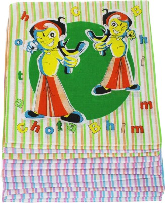 Neska Moda Kid's Chhota Bheem Cotton 30x30 CM Handkerchief(Pack of 12)