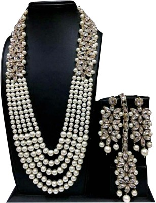 RUBIXCOLLECTION Metal Jewel Set(Silver) at flipkart