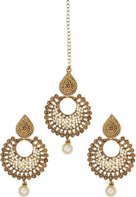 Zaveri Pearls Zinc Jewel Set Gold Zaveri Pearls Jewellery Sets