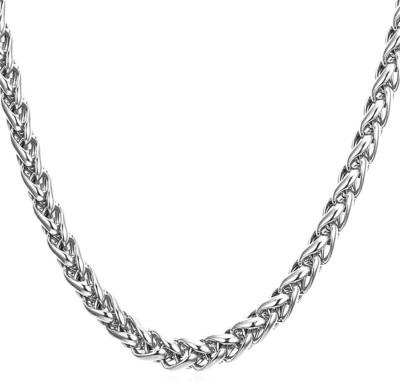Meenaz Branded Men Jewellery Valentine Silver Rope Chain Necklace for Men Husband Boys Boyfriend Gents Mens Chain for Pendants -CN136 Sterling Silver, Silver, Rhodium Plated Sterling Silver, Silver Chain