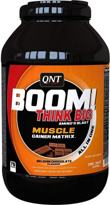 qnt boom muscle gainer matrix Protein Blends(3000 g, belgian chocolate, white chocolate)