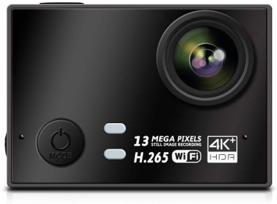 Auslese Action Cam Real 4k+ Ultra HD 30fps 13MP Hisilicon 3559 Chipset and Panasonic 34110 Image Sensor 170°A+HD Wide-Angle Lens, Image stabilizer WiFi Action Camera Sports and Action Camera(Black 16 MP) 1