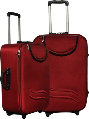 United Mescos Maroon Front Pocket Check in Luggage   24 inch