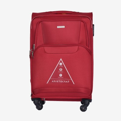 Aristocrat Amber 69 cm Polyester Trolley (Red) Expandable  Check-in Luggage - 30 inch(Red) at flipkart