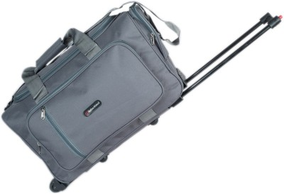 Indian Riders 2 Wheel Travel Bag with Trolley   Grey  IRTB 005  Check in Luggage   23 inch