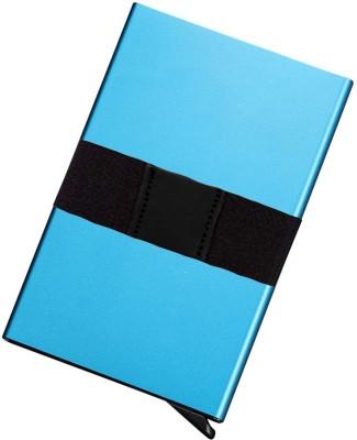 Flipkart SmartBuy Exclusive RFID Blocking Automatic Pop-Up Money Holding Rubber Band Aluminum Metal Front Pocket Wallet 6 Card Holder(Set of 1, Blue)