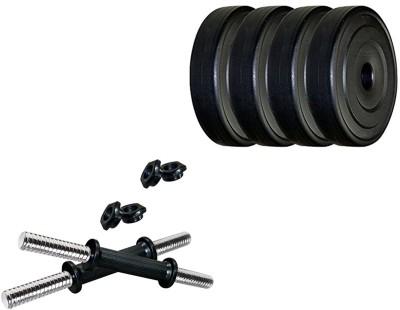 Simran Sports PVC 8 KG Dumbbell Set Adjustable Dumbbell(8 kg)