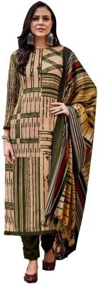Rosaniya Wool Printed Salwar Suit Material(Un-stitched)