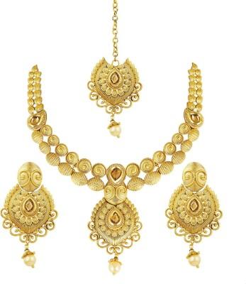 Shining Diva Brass Jewel Set(Green)