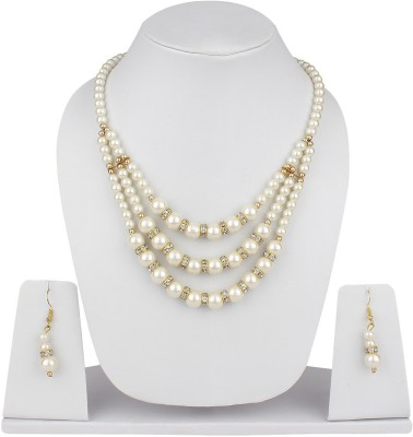 Jewels Guru Alloy Jewel Set(White) at flipkart