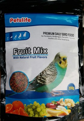 Taiyo Petslife- FRUIT MIX 200g - Birds Food Fruit 200 g Dry Bird Food