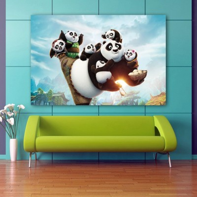 Kung Fu Panda 3 Panda Kids Wallpaper Wall Decor Poster No Framed Large Painting On Canvas Wall Art Picture For Home Decoration Wall Decor Paper Print Paper Print(48 inch X 24 inch)