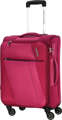 American Tourister Michigan SP57CM TSA Expandable  Cabin Luggage - 22 inch(Pink)