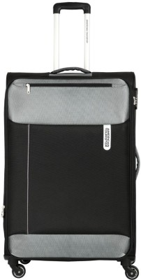 American Tourister Portugal SP Expandable  Cabin Luggage - 22 inch(Black, Grey)