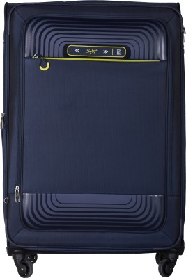 Skybags Quartz Spinner Soft Trolley 58 cm (Blue) Expandable  Cabin Luggage - 22 inch(Blue) at flipkart