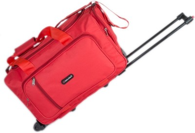Indian Riders Travel Bag with Trolley   Red  IRTB 003  Check in Luggage   23 inch