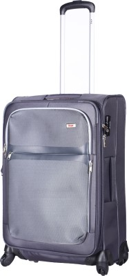 VIP Squad Spinner Soft Trolley 65 CM, Grey Expandable  Check-in Luggage - 25 inch(Grey)