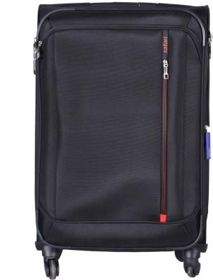 Safari STELLAR Spinner Soft Trolley Black, 71cm Expandable  Check-in Luggage - 27 inch(Black) at flipkart