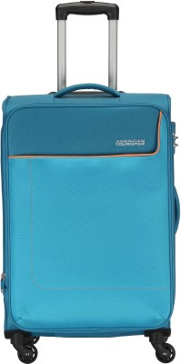 American Tourister Jamaica SP Turq Expandable  Check-in Luggage - 24 inch(Blue)