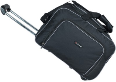 Indian Riders Travel Bag with Trolley   Black  IRTB 007  Check in Luggage   23 inch Indian Riders Suitcases