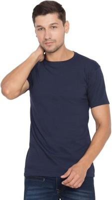Cliths Solid Men Round Neck Dark Blue T-Shirt Flipkart