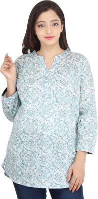 Uptown Funk Casual 3/4th Sleeve Floral Print Women
