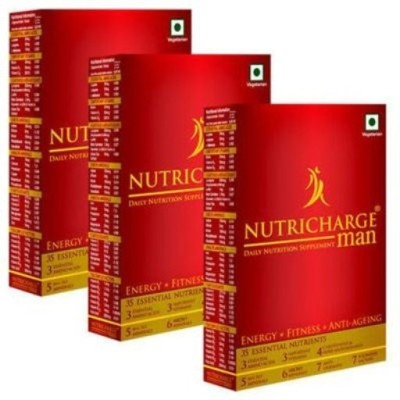 Nutricharge Daily health supplement for man pack of 3 90 No