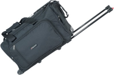Indian Riders Travel Bag with Trolley   Black  IRTB 004  Check in Luggage   23 inch