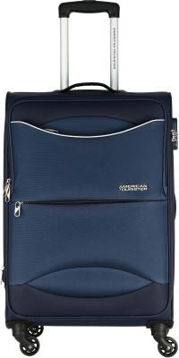 American Tourister Brookfield Sp56 Expandable  Cabin Luggage - 22 inch Marine Blue -