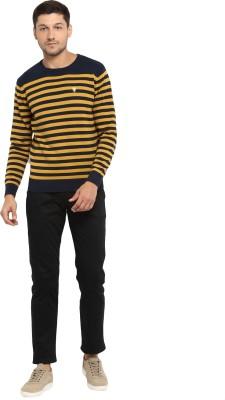 Red Tape Striped Round Neck Casual Men Multicolor Sweater
