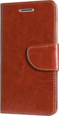 Nuvak Flip Cover for Lenovo Vibe K5 Plus Brown, Dual Protection