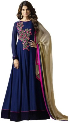 Fashions Bazaar Anarkali Gown(Blue)
