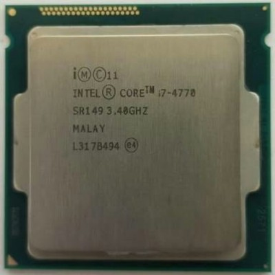 Intel 3.4 GHz LGA 1150 i7 4770 Desktop 4th Gen OEM Processor Processor(multy, Silver) at flipkart