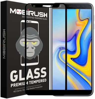 MOBIRUSH Edge To Edge Tempered Glass for Samsung Galaxy J6 Plus(Pack of 1)