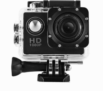 nick jones 1080 P action camera 1080P 2-inch LCD 140 Degree Wide Angle Lens Waterproof Diving Sports and Action Camera , ACTION GO PRO APC16 (MULTICOLOUR) Sports and Action Camera(Black 30 MP) 1