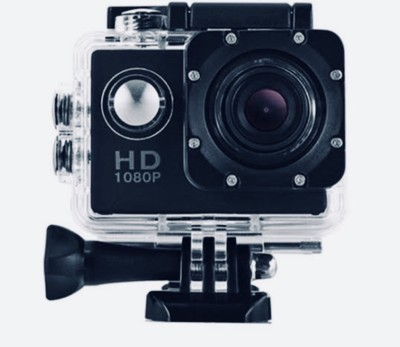 nick jones 1080 P action camera 1080P 2-inch LCD 140 Degree Wide Angle Lens Waterproof Diving Sports and Action Camera , ACTION GO PRO APC14 (MULTICOLOUR) Sports and Action Camera(Black 30 MP) 1