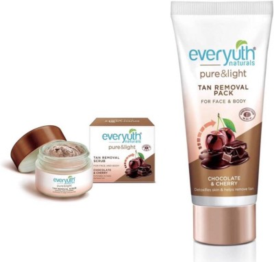 EVERYUTH NATURALS TAN REMOVAL SCURB 50g & TAN REMOVAL PACK 50g(Set of 2)