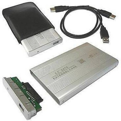 AlexVyan Silver New External portable Sata Casing Hard Disk case Usb 2.0 2.5 inch External Hard Drive enclosure Suitable for...
