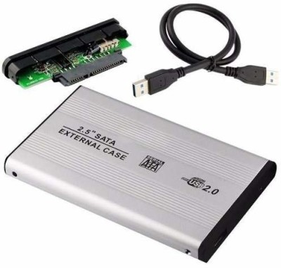 AlexVyan Silver Special External portable Casing Hard Disk case Usb 2.0 2.5 inch External Hard Drive enclosure Suitable for Laptop...
