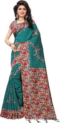 Yashika Printed Fashion Cotton Silk Saree Green