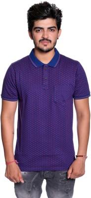 Le Bon Ton Printed Men Polo Neck Purple T-Shirt Flipkart