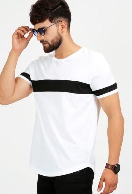 Aelo Solid Men Round Neck White T-Shirt