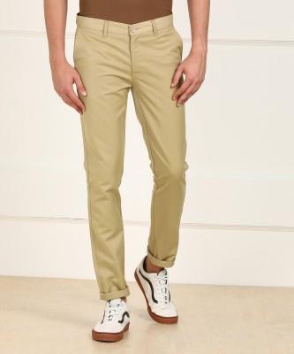 Metronaut Regular Fit Men Polyester Brown Trousers