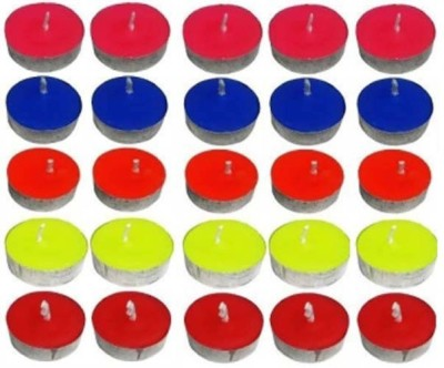 Brandwire No Slow Burning Candle(Multicolor, Pack of 50)