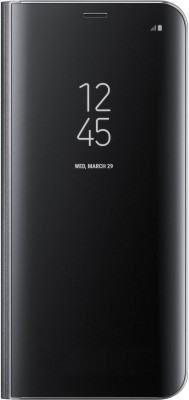 SamMus Flip Cover for Samsung Galaxy S7 Edge(Black, Cases with Holder, Polycarbonate)